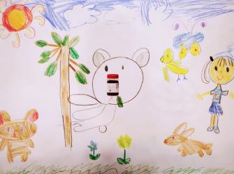 【ゆなちゃんとコアラ】6歳