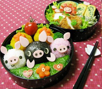 野菜だくさん☆ぶたさんのおべんとう